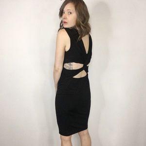 M x MADONNA for H&M dress side cutouts v-neck 0180